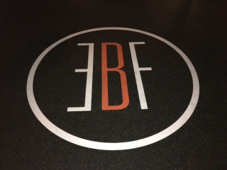 Custom logo special for rubber flooring and weightlifting platforms.