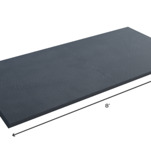 Budget friendly all-rubber stand alone weightlifting platform - 4'x8' - 19mm
