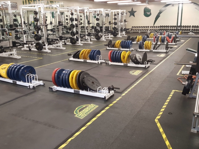 Transform your weight room with new custom logos and all-rubber low profile custom weightlifting platforms.